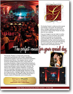 Granby Theater Bridal Event Ad